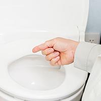 トイレのつまり、トイレ水の溢れの症状改善