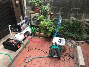 給水管洗浄機械の設置