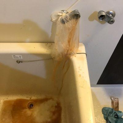 井戸水風呂汚れ